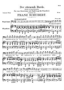 Der zürnende Barde (The Indignant Bard), D.785: G minor by Franz Schubert