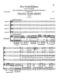Der Gondelfahrer (The Gondolier), D.809 Op.28: Der Gondelfahrer (The Gondolier) by Franz Schubert
