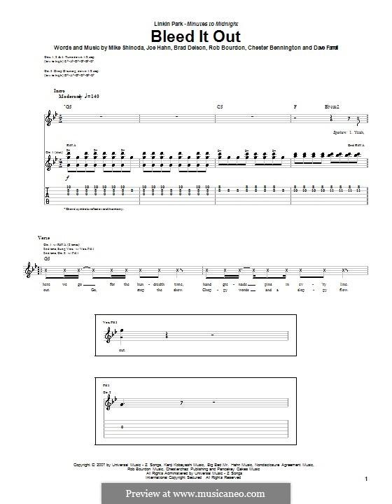 Bleed It Out (Linkin Park) by B. Delson, C. Bennington, D. Farrell ...