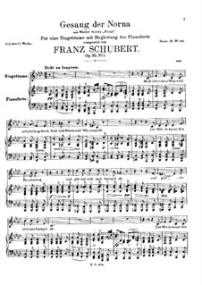Gesang der Norna (Norna's Song), D.831 Op.85 No.2: F minor by Franz Schubert
