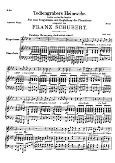 Totengräbers Heimweh (Gravedigger's Homesickness), D.842: F minor by Franz Schubert