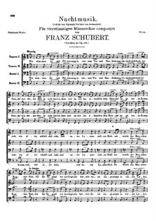 Nachtmusik (Night Music), D.848 Op.156: Nachtmusik (Night Music) by Franz Schubert