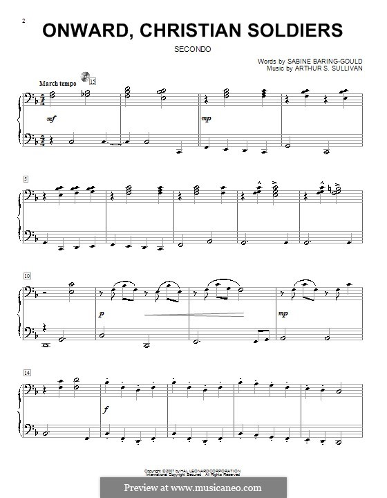 Onward, Christian Soldiers: For piano four hands by Arthur Seymour Sullivan