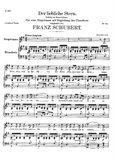 Der liebliche Stern (The Lovely Star), D.861: For voice and piano by Franz Schubert