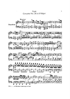 Violin Concerto No.24 in D Major: Version for violin and piano – score and solo part by Giovanni Battista Viotti