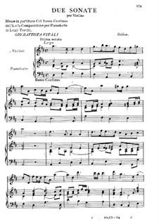 Two Sonatas for Violin and Piano: Two Sonatas for Violin and Piano by Giovanni Battista Vitali