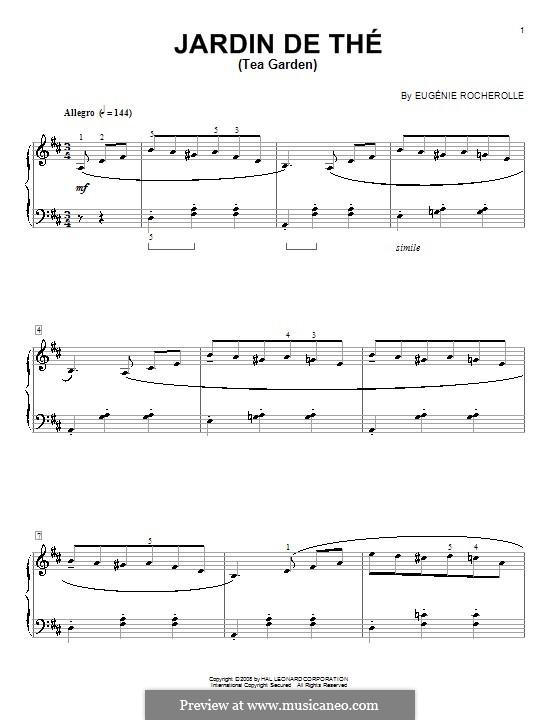 Jardin de Thé (Tea Garden): For piano by Eugénie Rocherolle