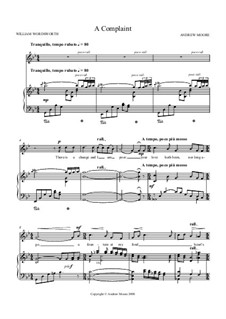 A Complaint: For voice and piano by Andrew Moore