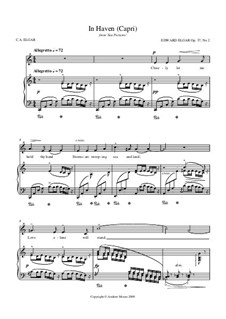 Sea Pictures, Op.37: No.2 In Haven (Capri), for voice and piano by Edward Elgar