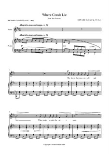 Sea Pictures, Op.37: No.4 Where Corals Lie, for voice and piano by Edward Elgar