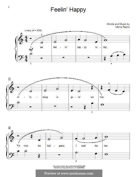 Feelin' Happy: For piano by Mona Rejino
