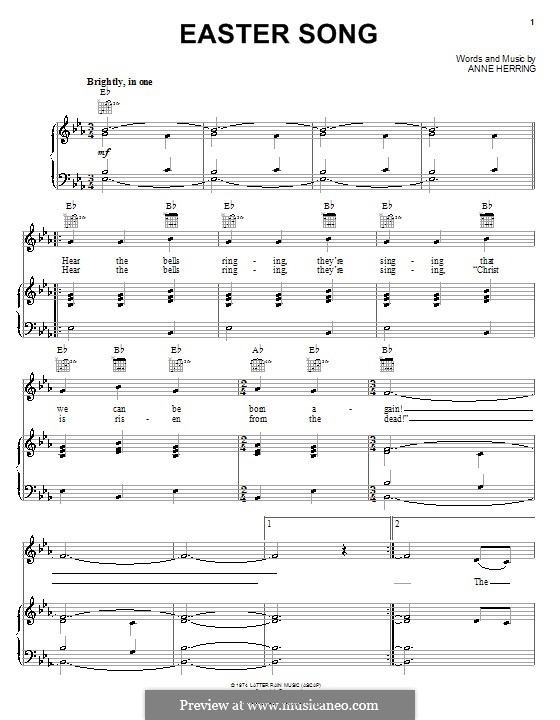 Easter Song: For voice and piano (or guitar) by Anne Herring