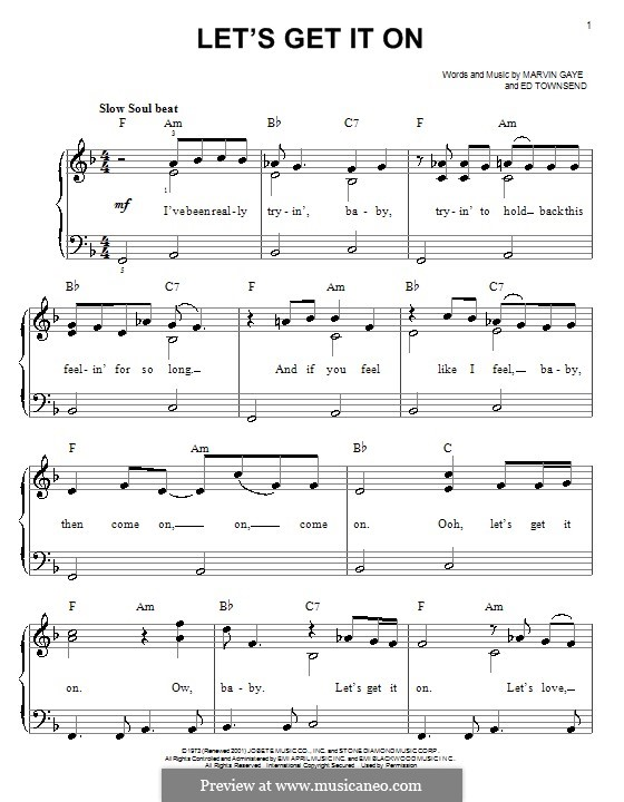 Let's Get It on: For easy piano by Ed Townsend