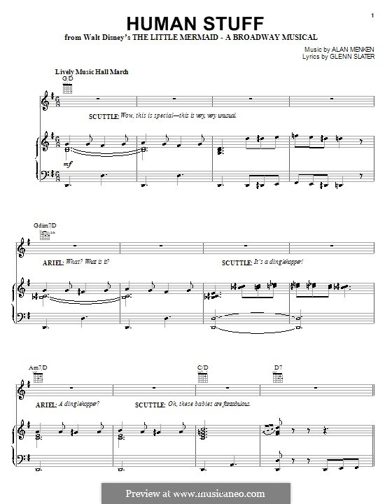 Human Stuff: For voice and piano (or guitar) by Alan Menken