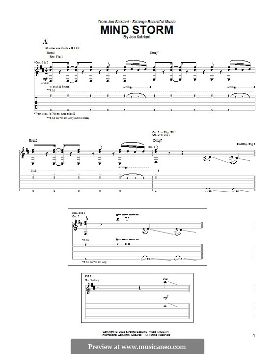 Mind Storm: For guitar with tab by Joe Satriani