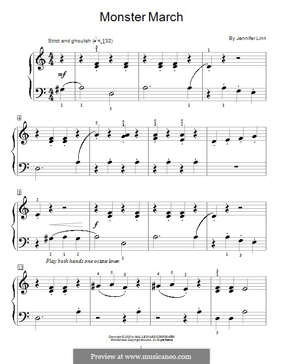 Monster March: For piano by Jennifer Linn