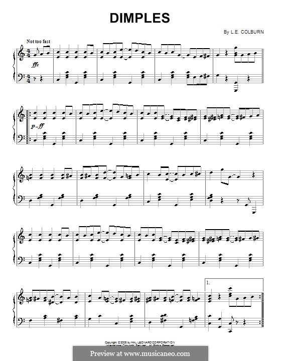 Dimples: For piano by L.E. Colburn