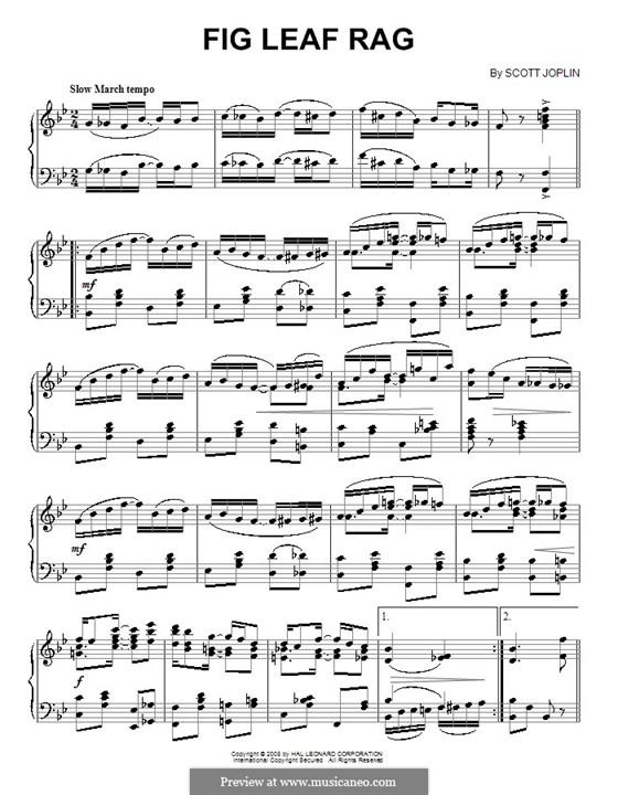 Fig Leaf Rag: For piano (high quality sheet music) by Scott Joplin