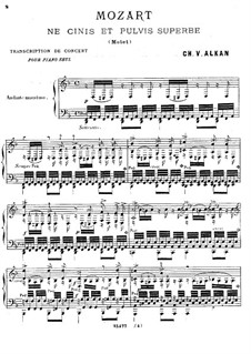 Ne Cinis et Pulvis Superbe: For piano by Wolfgang Amadeus Mozart