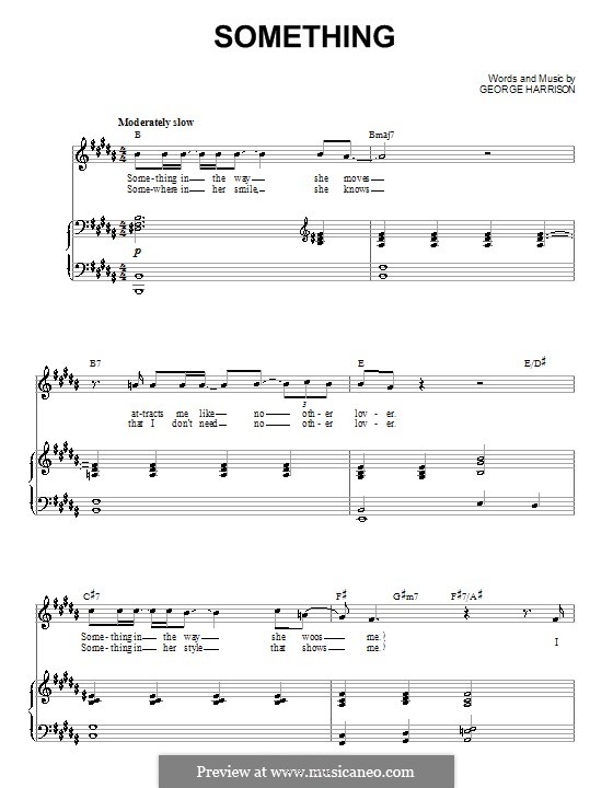 Something The Beatles By G Harrison Sheet Music On Musicaneo