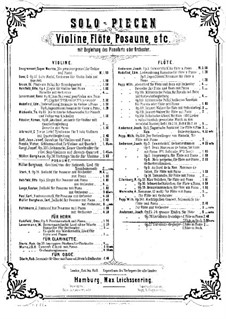 Variations Drôlatiques, Op.26: Parts by Joachim Andersen
