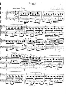 Five Pieces for Piano, Op.5 No.2: No.2 Etude by Konstantin Antipov