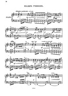 Raphael, Op.37: No.1 Choir of Students, for piano by Anton Arensky