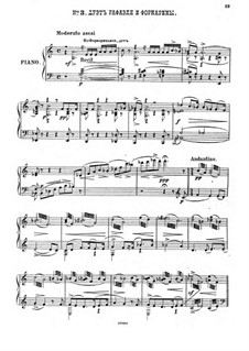Raphael, Op.37: No.3 Duet of Raphael and Fornarina, for piano by Anton Arensky