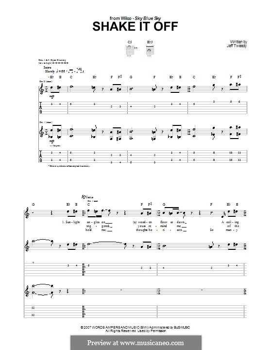 Shake It Off (Wilco): For guitar with tab by Jeff Tweedy