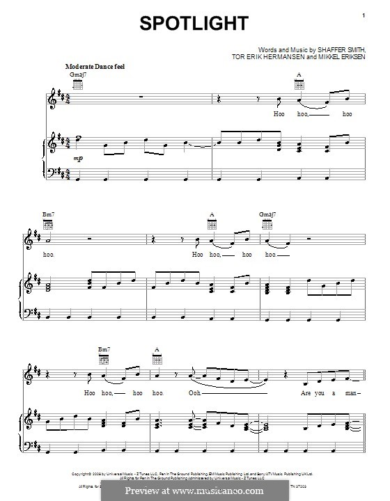 Spotlight: For voice and piano (or guitar) by Mikkel Storleer Eriksen, Ne-Yo, Tor Erik Hermansen