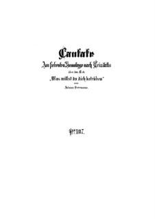 Was willst du dich betrüben, BWV 107: Full score by Johann Sebastian Bach