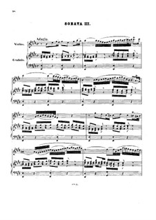 Sonata for Violin and Harpsichord No.3 in E Major, BWV 1016: Full score by Johann Sebastian Bach