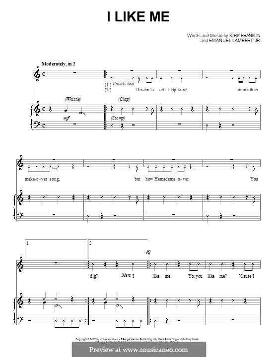 I Like Me: For voice and piano (or guitar) by Emanuel Lambert Jr.