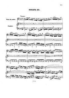 Sonata for Viola da Gamba and Harpsichord No.3 in G Minor, BWV 1029: Score by Johann Sebastian Bach