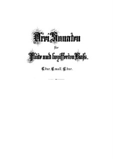 Sonata for Flute and Basso Continuo No.1 in C Major, BWV 1033: Score by Johann Sebastian Bach