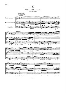 Sonata for Two Violins and Basso Continuo in G Major, BWV 1039: Full score by Johann Sebastian Bach