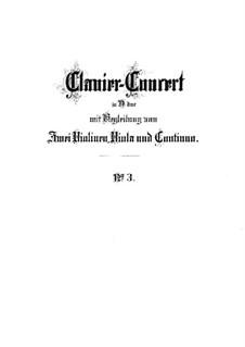 Concerto for Harpsichord and Strings No.3 in D Major, BWV 1054: Full score by Johann Sebastian Bach