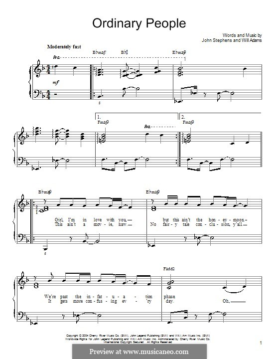 Unique Ordinary People Chords Piano Image Collection - Beginner ...