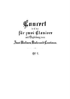 Concerto for Two Harpsichords and Strings No.2 in C Major, BWV 1061: Full score by Johann Sebastian Bach