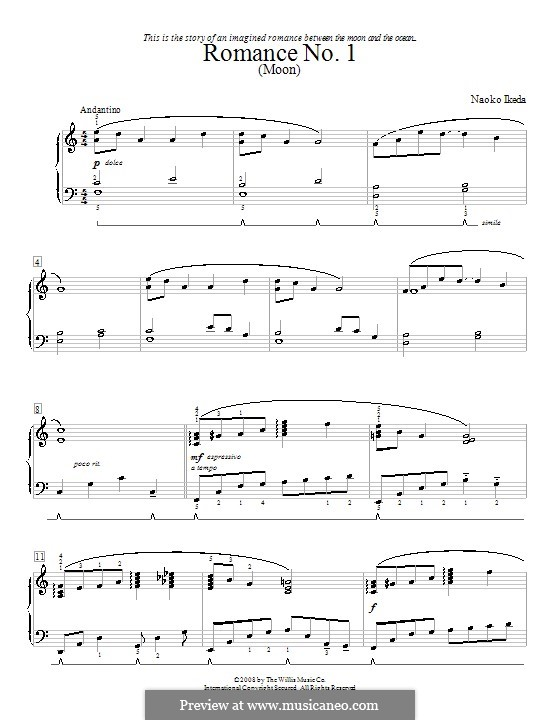 Two Romances: For piano by Naoko Ikeda
