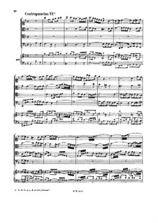 The Art of Fugue, BWV 1080: No.6-10. For string quartet and keyboard by Johann Sebastian Bach