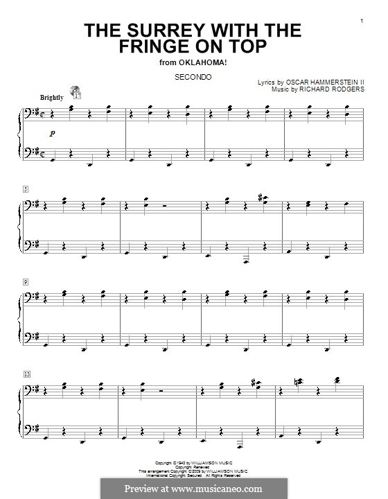The Surrey with the Fringe on Top: For piano four hands by Richard Rodgers