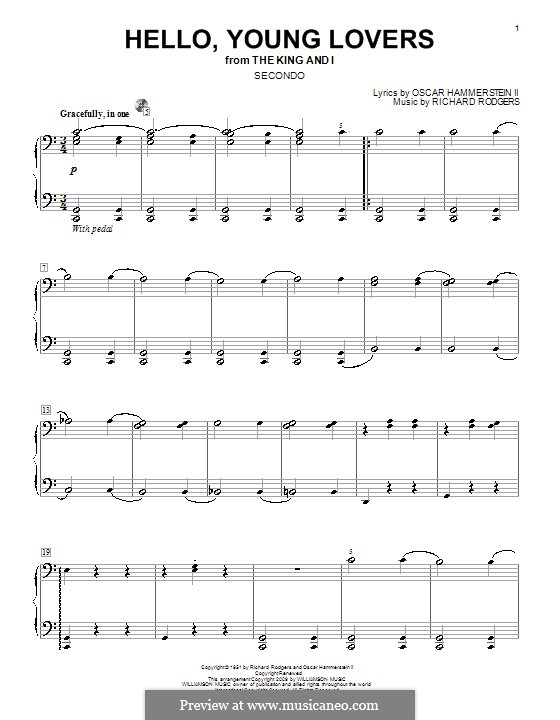 Hello, Young Lovers: For piano four hands by Richard Rodgers