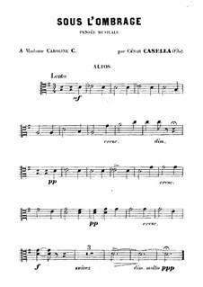 Sous l'Ombrage: Viola part by Cesar Casella