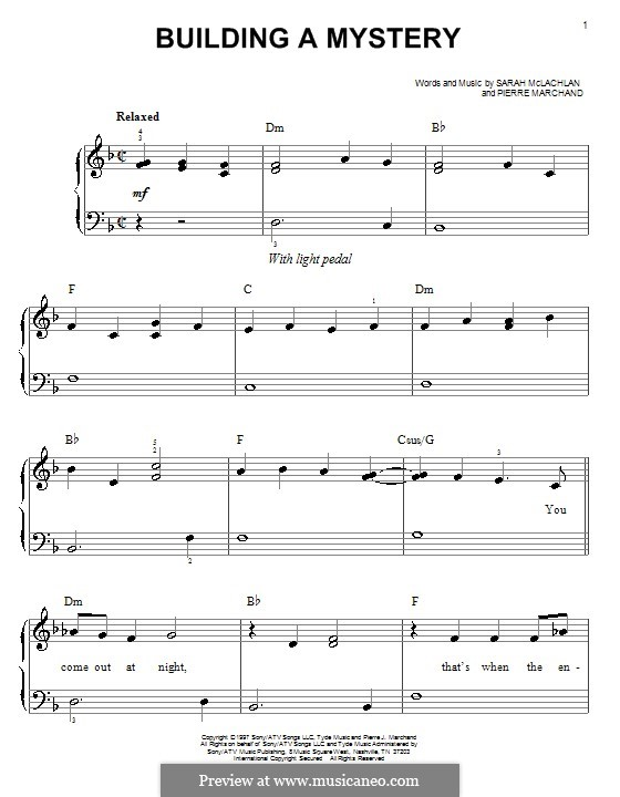 Building a Mystery: For easy piano by Pierre Marchand