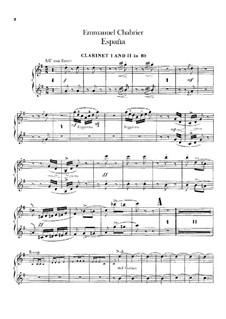 España: Clarinets I-II parts by Emmanuel Chabrier