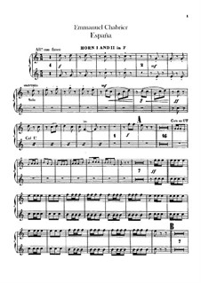 España: French horn parts by Emmanuel Chabrier