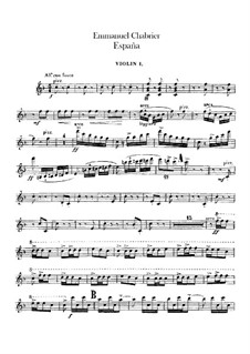 España: Violin I part by Emmanuel Chabrier