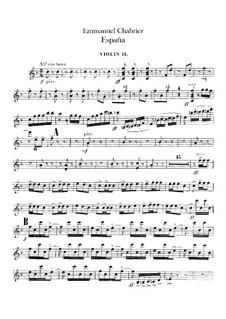 España: Violin II part by Emmanuel Chabrier