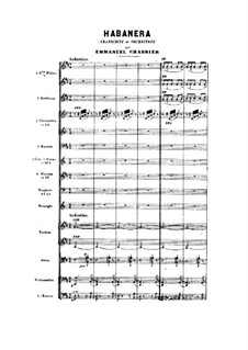 Habanera: For orchestra by Emmanuel Chabrier